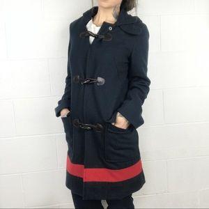 Nautica Navy & Red Pea Coat